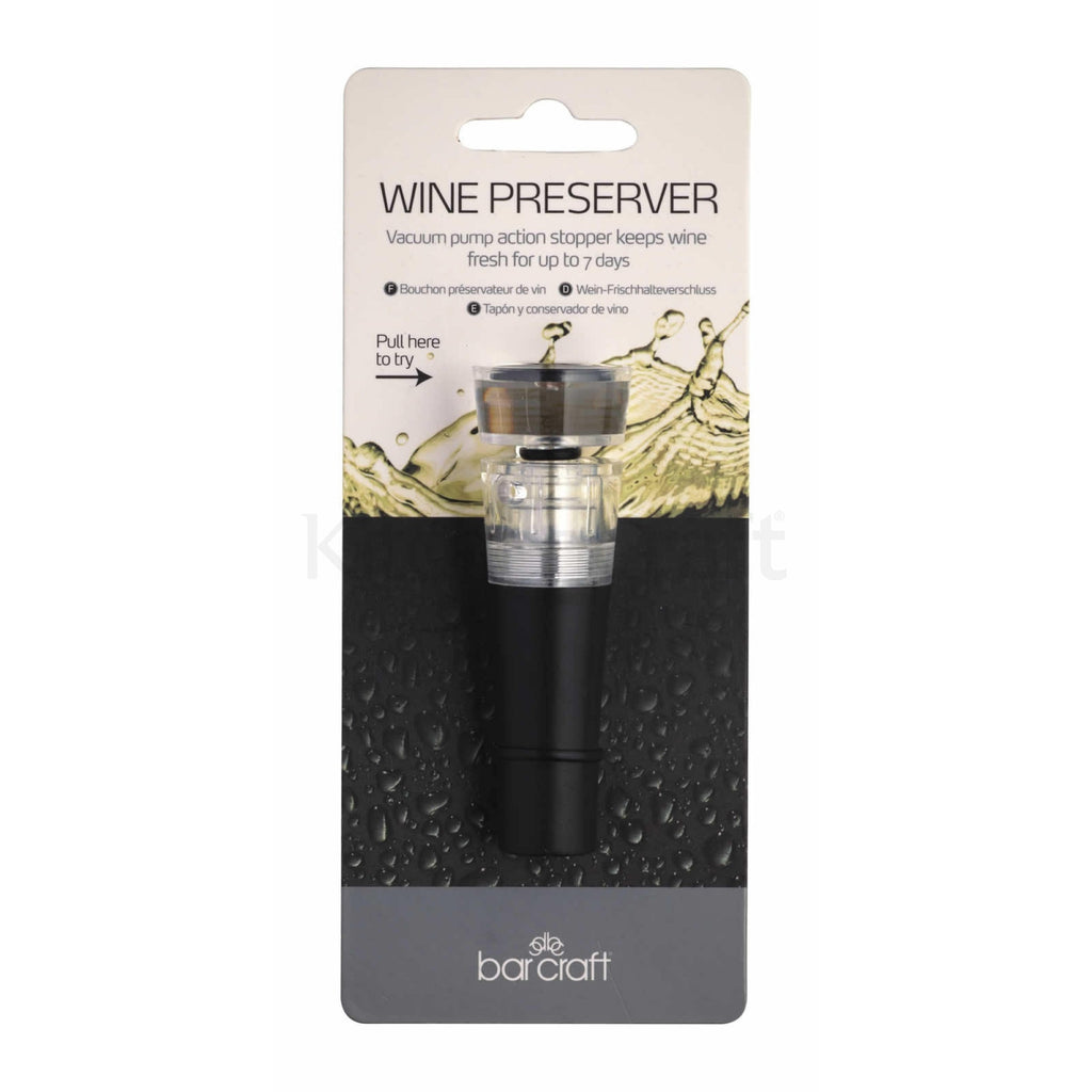 Bar Craft Wine Pump Stopper and Preserver - The Organised Store