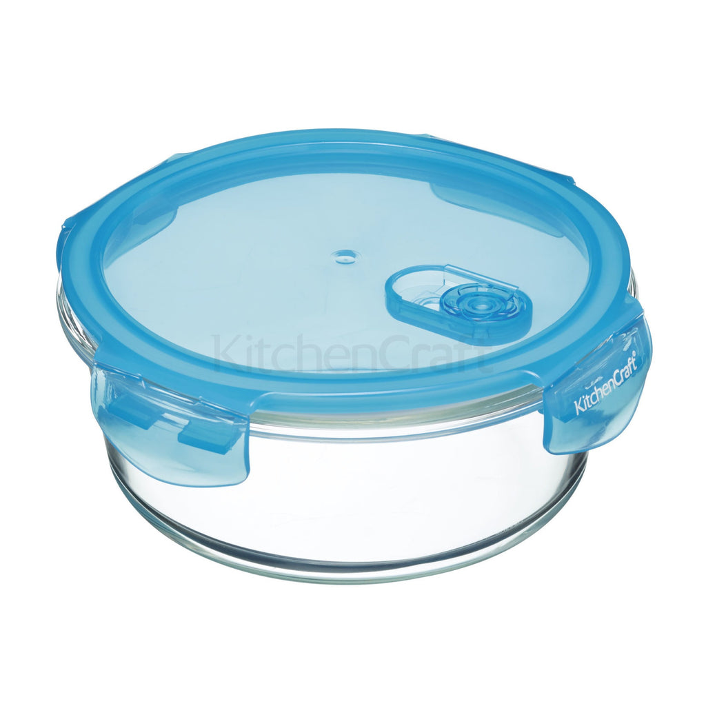 Pure Seal Glass Round Storage Container 350ML/ 600ML/950ML - The Organised Store