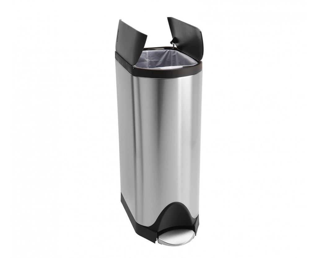 Butterfly Pedal Bin 30L Stainless Steel - The Organised Store