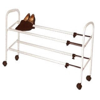 2 Tier Expand Shoe Rack White