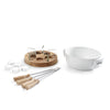 Oak Fondue Candle Light White