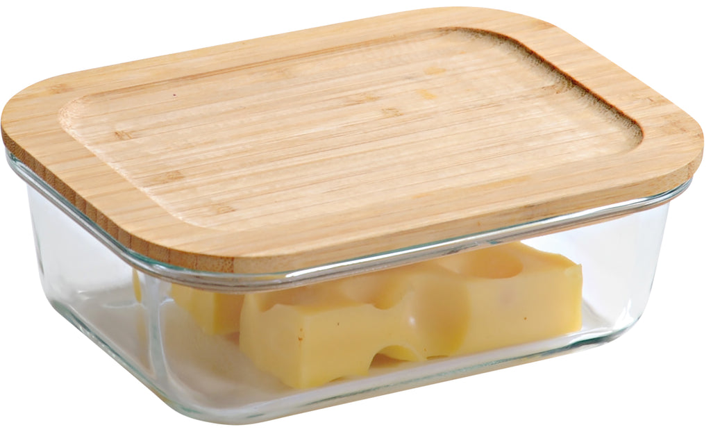 Storage Glass Container with Bamboo Lid - Various Sizes