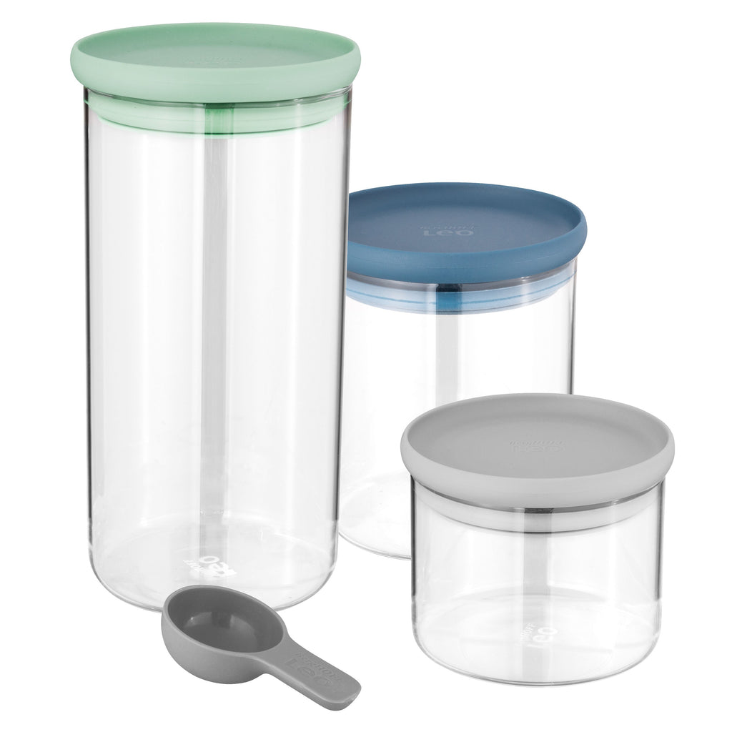 Berghoff LEO Glass Food Container 3 Piece Set