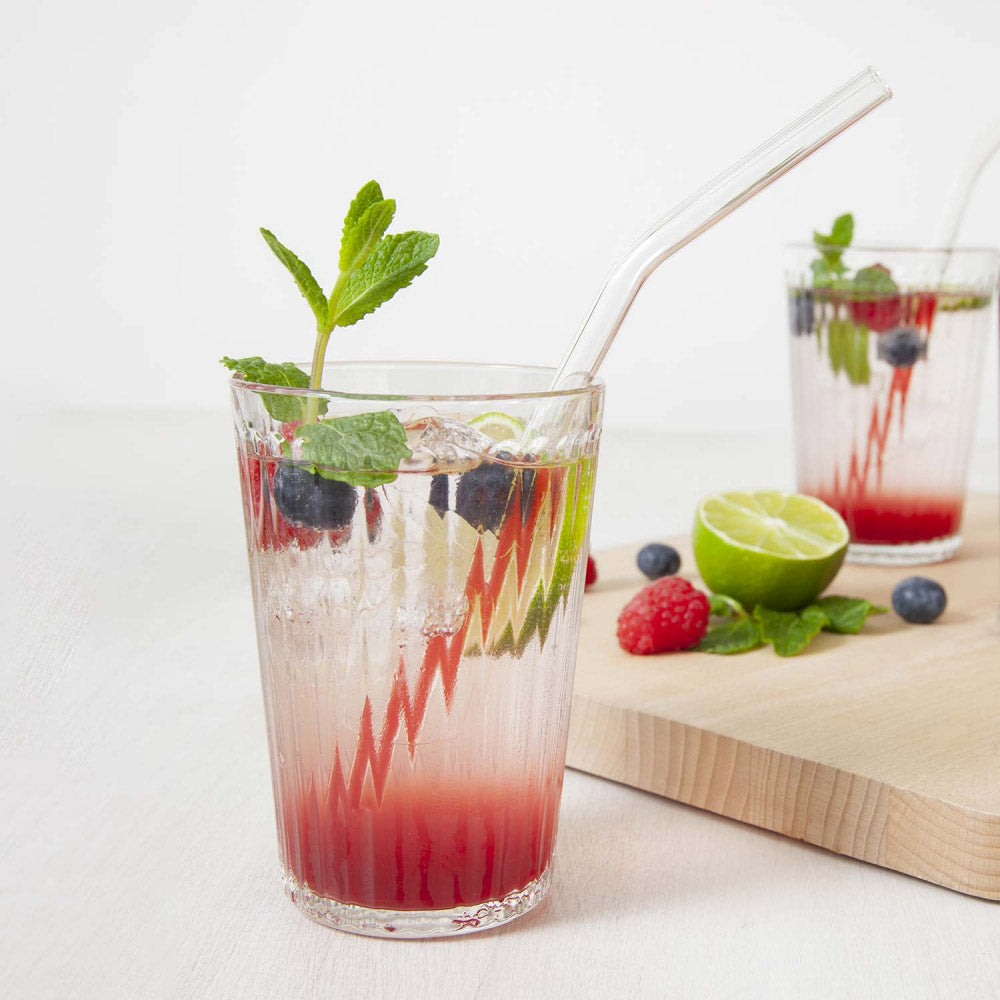 BarBaydos Glass Drinking Straws