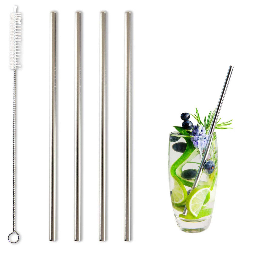 BarBados Stainless Steel Drinking Straws
