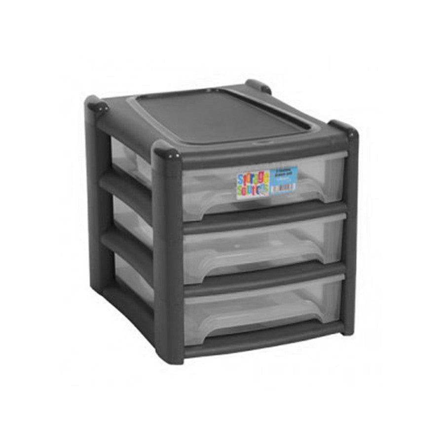 Shallow 3 Drawer Unit