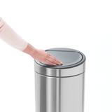 Touch Bin Plastic Inner Bucket 30L Stainless Steel