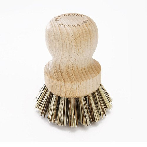 Pot Brush With Stiff Plant Fibre Bristles - The Organised Store