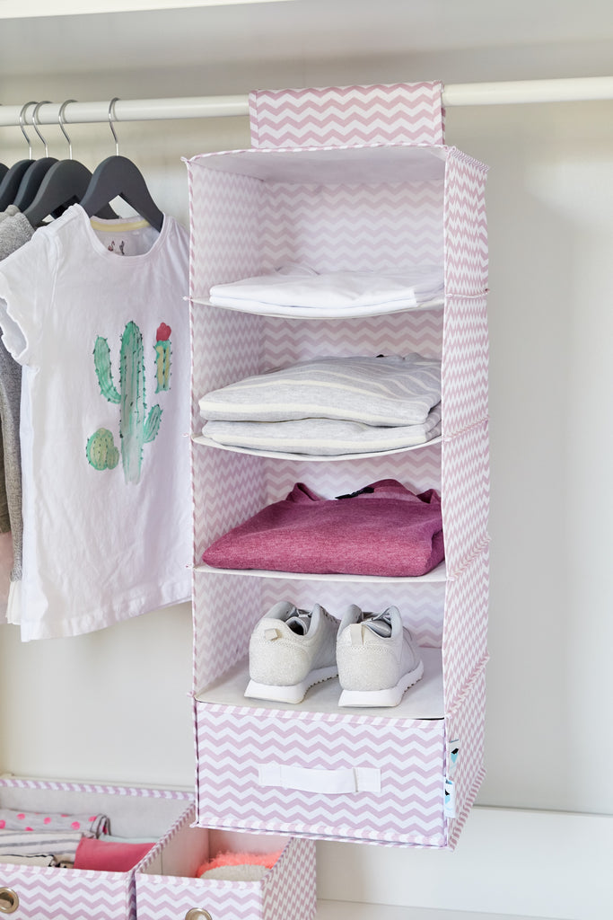 Hanging Wardrobe Organiser Pink - The Organised Store