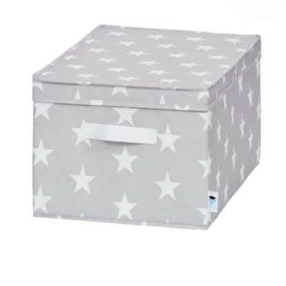 Hinged Lid Storage Box Grey - The Organised Store