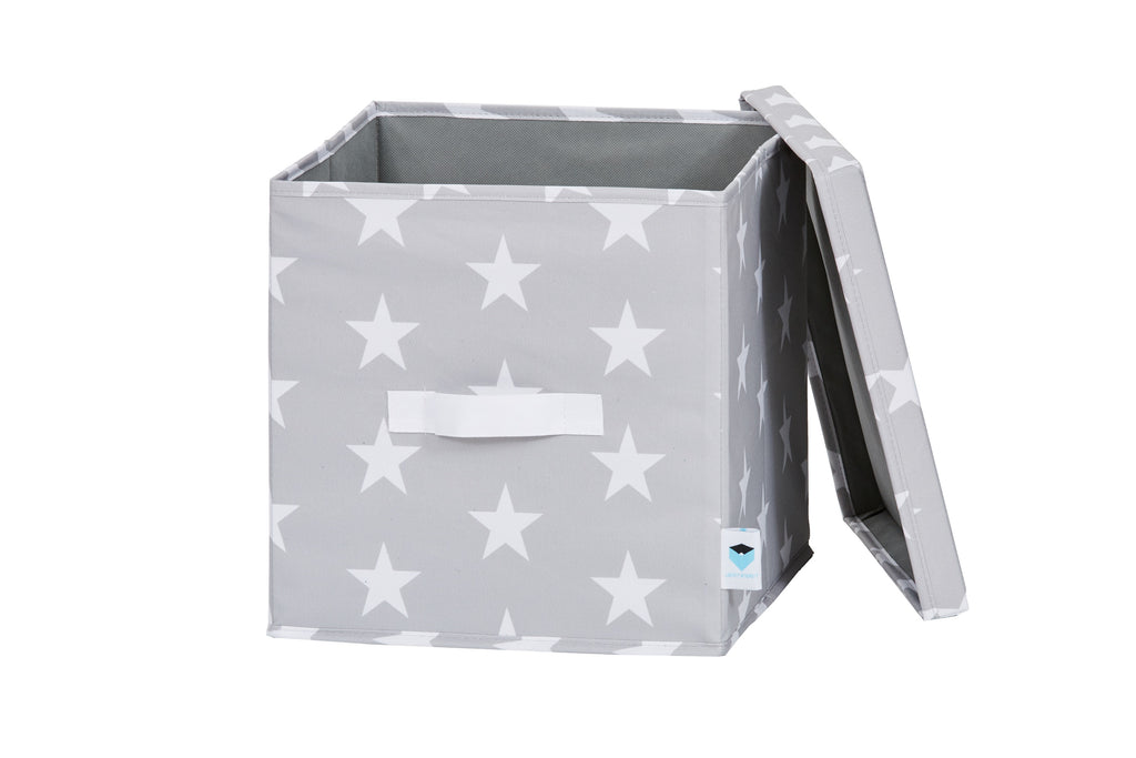 Grey Pattern Storage Box - The Organised Store