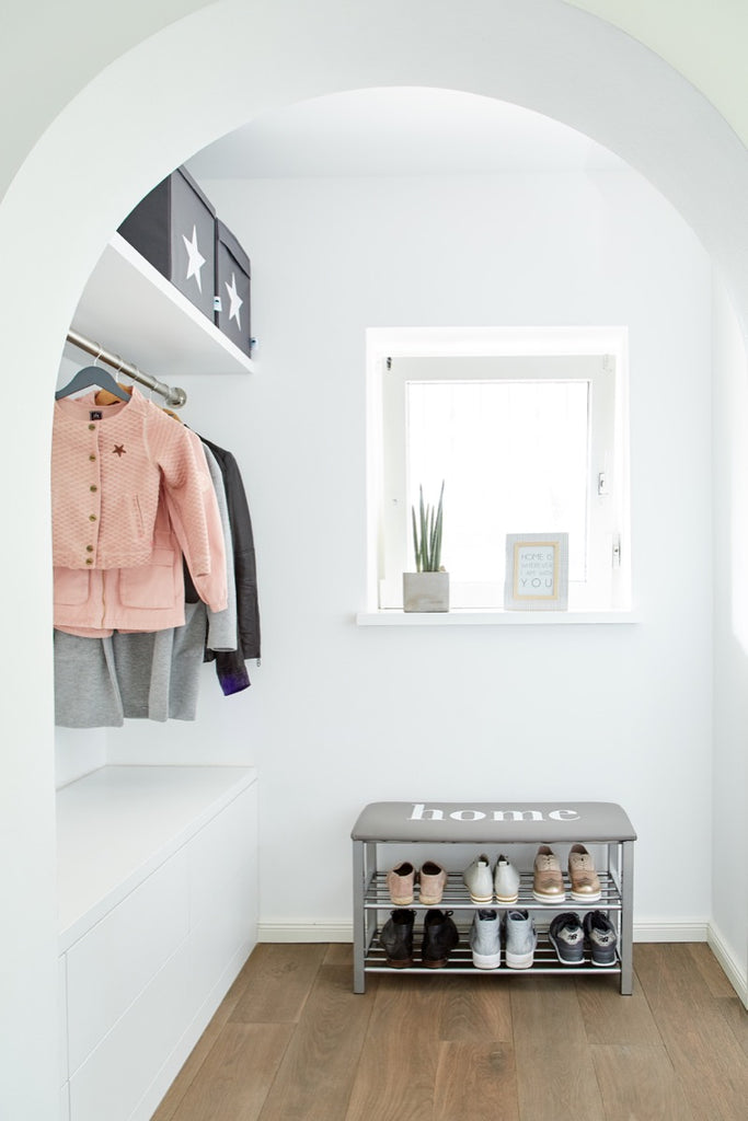 "Shoe Rack With Cushion ""Home"" - The Organised Store"