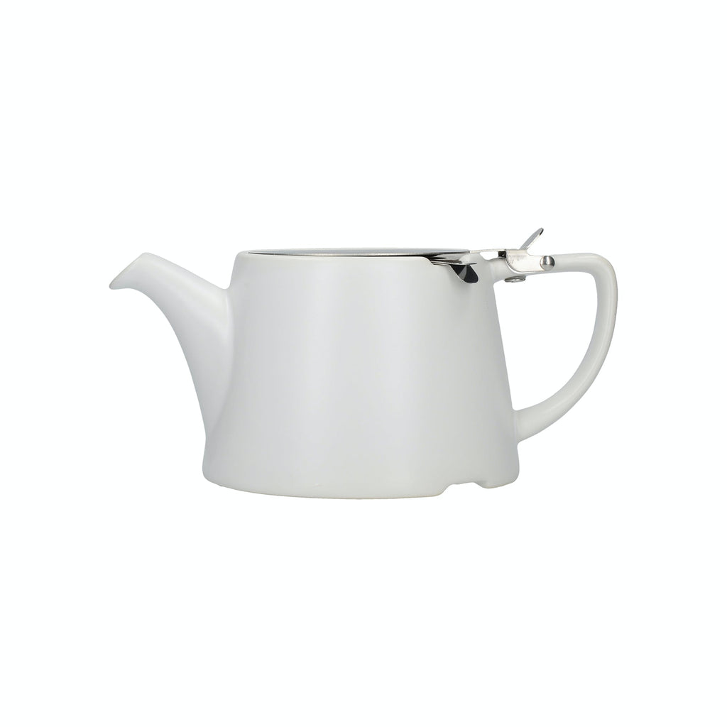 London Pottery Oval® Teapot Satin White -750ML/3 Cup