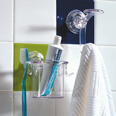 Compactor Bestlock Suction Wall Mountable Toothbrush Holder with Cup