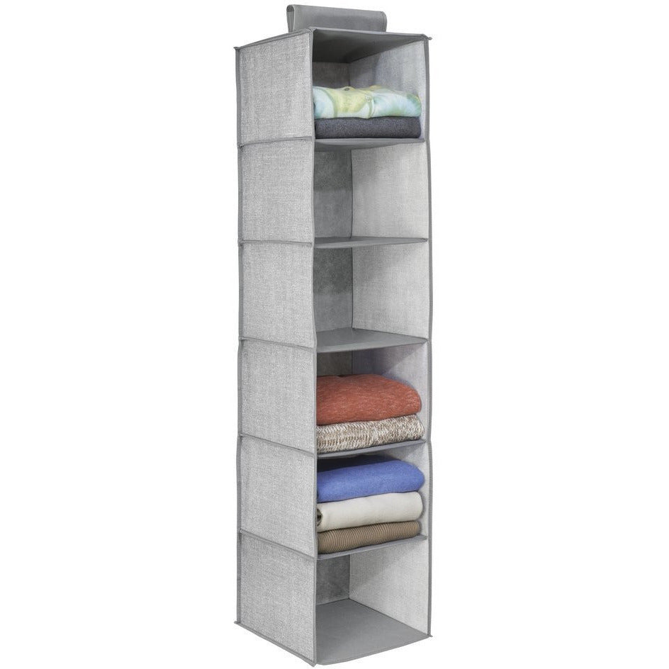 Fabric Closet Organizer 6 Sections Linen Colour