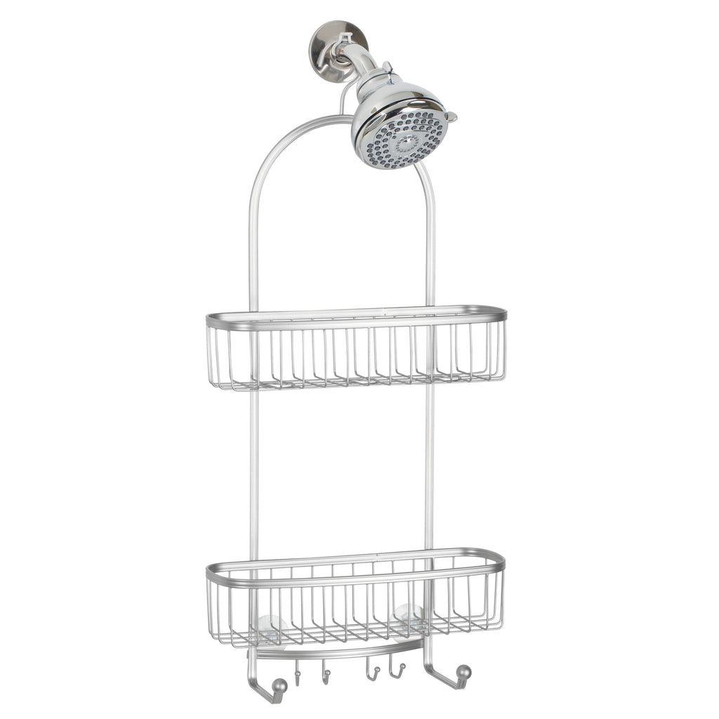 York Shower Caddy XL Silver - The Organised Store