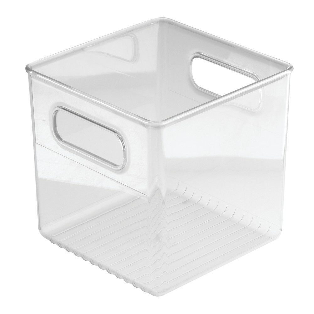 "LINUS Pantry Cube bin 6"" X 6"" X 6"" - Clear - The Organised Store"