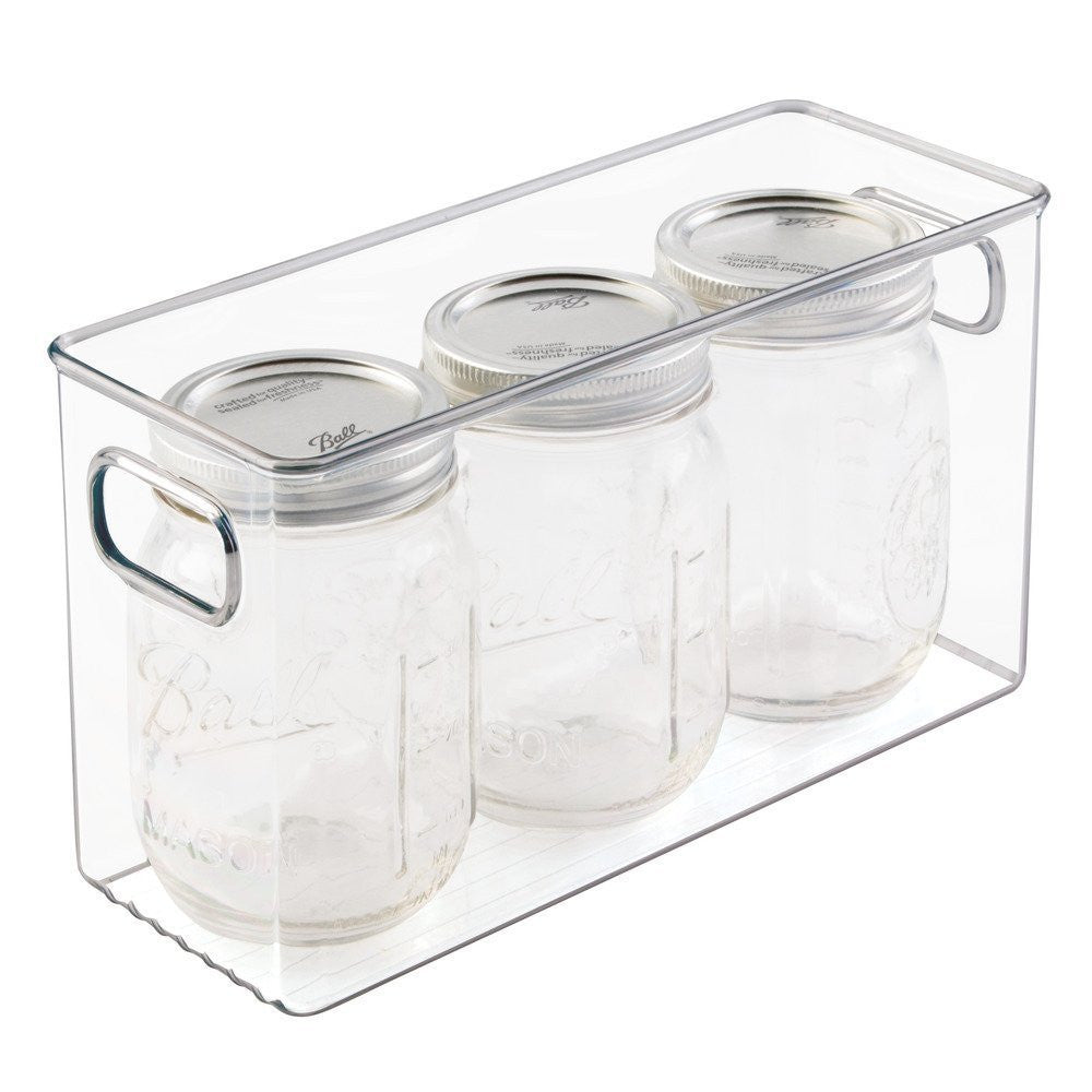 "LINUS Pantry Cube bin 10"" X 4"" X 6"" - Clear - The Organised Store"