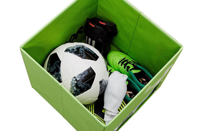 Football Toy Box with Lid and small Goal