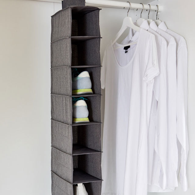 Premium Shoe Organiser Grey 8 Compartments - The Organised Store
