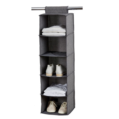 Hinged Lid Storage Box Grey