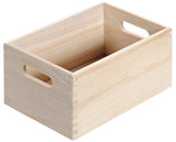 Paulownia Wood Storage Crate