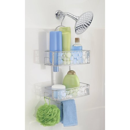 Bubbli Shower Caddy XL - Clear/Silver - The Organised Store