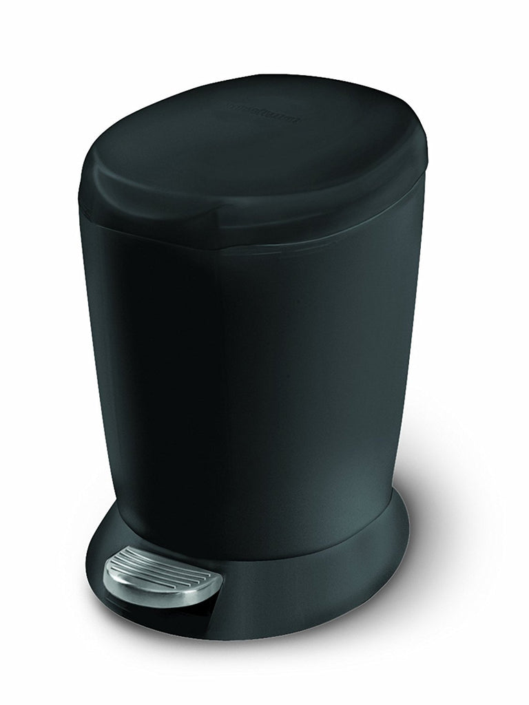 Simplehuman Mini Plastic Pedal Bin 6L Black - The Organised Store