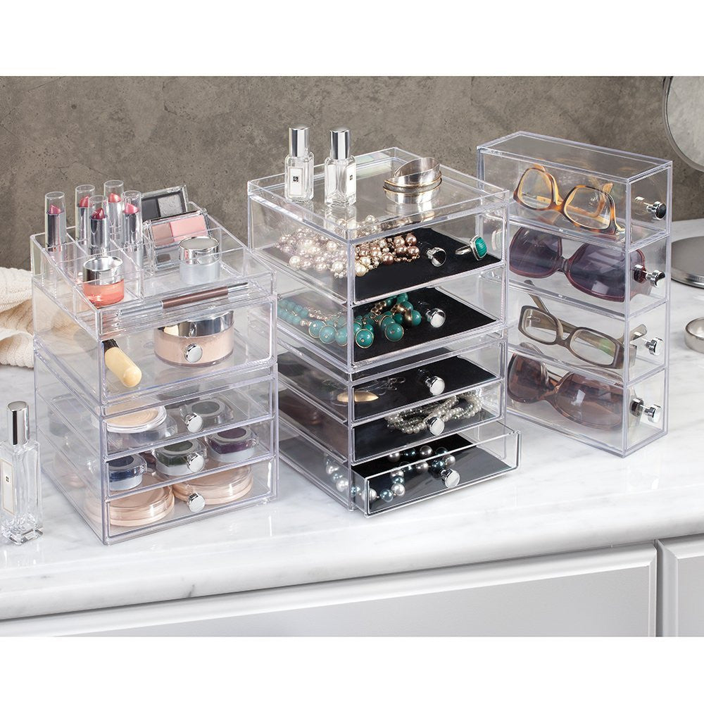 CLARITY Cosmetic Organiser with Drawer - The Organised Store