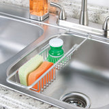 Over The Sink Caddy Silver Aluminum - The Organised Store