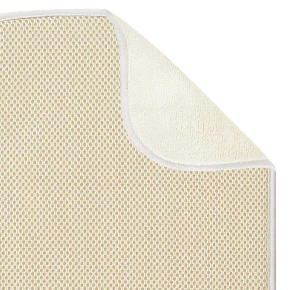 "iDRY Bath Mat Solid 18"" x 16"" - Wheat/ Grey"