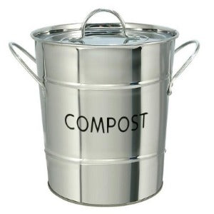 Eddingtons Compost Pail Stainless Steel - The Organised Store