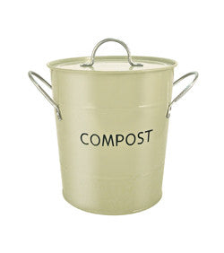 Eddingtons Compost Pail Sage Green - The Organised Store