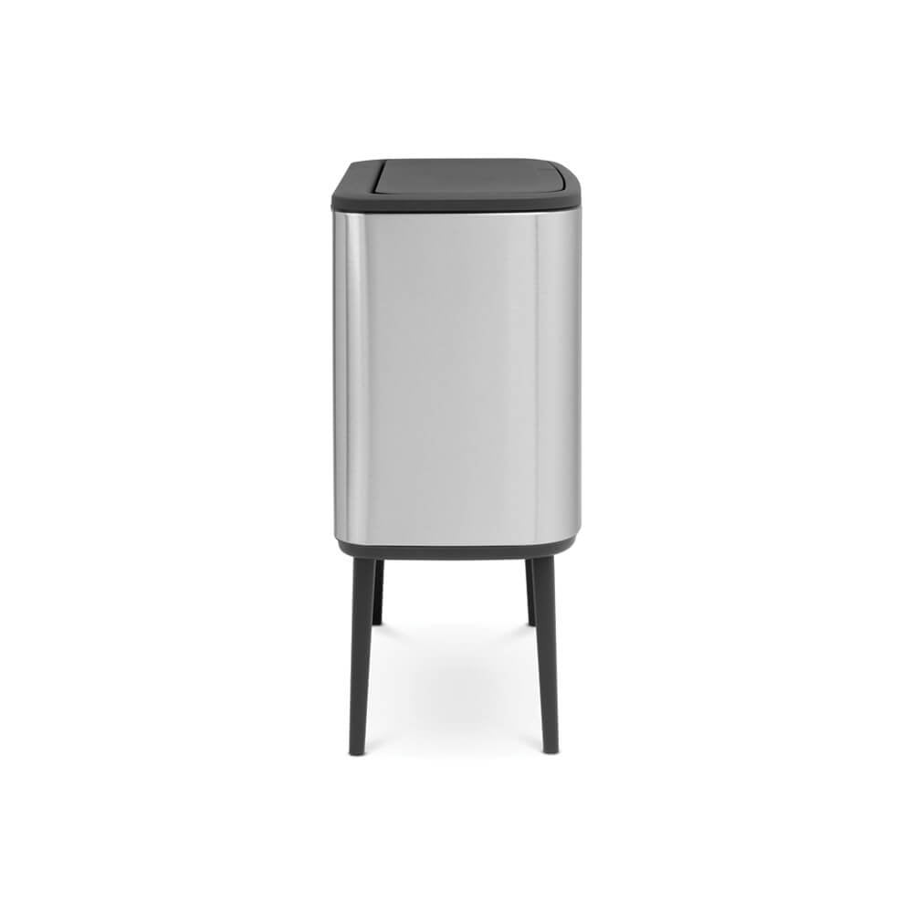 Bo Touch Bin With 2 Inner Buckets 11+23L Matt Steel - The Organised Store