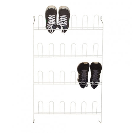 Shoe Rack 12 Pair White - The Organised Store