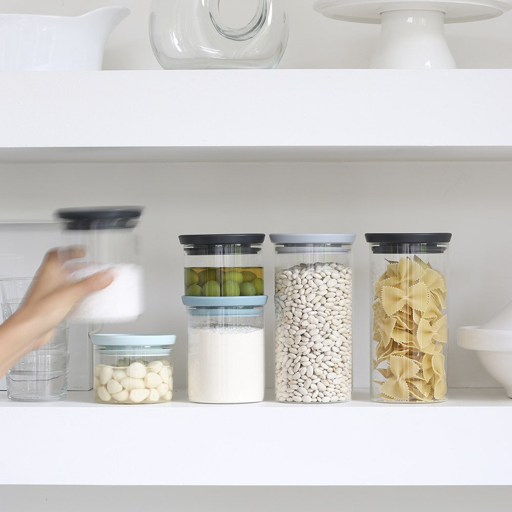 Stackable Glass Jar 0.6L - The Organised Store