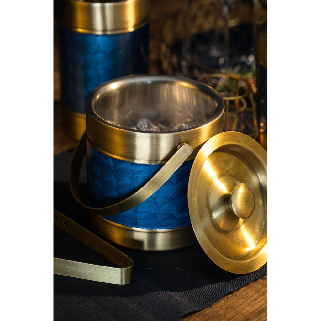 Blue& Brass Finish Stainless Steel Wine Cooler