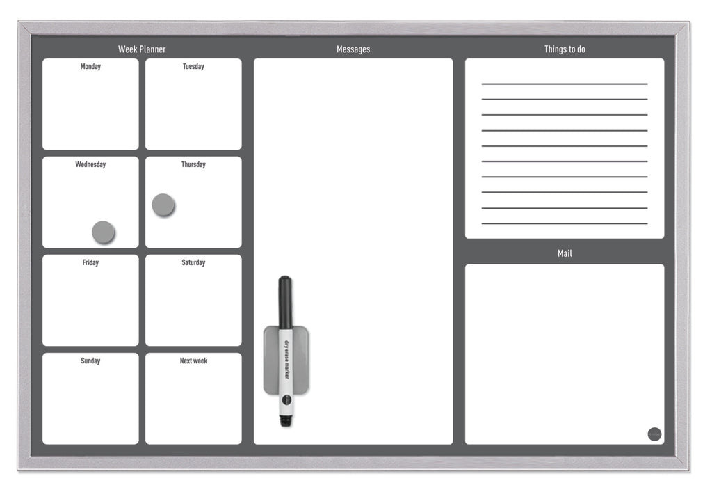 Week and Errand Planner Grey - The Organised Store