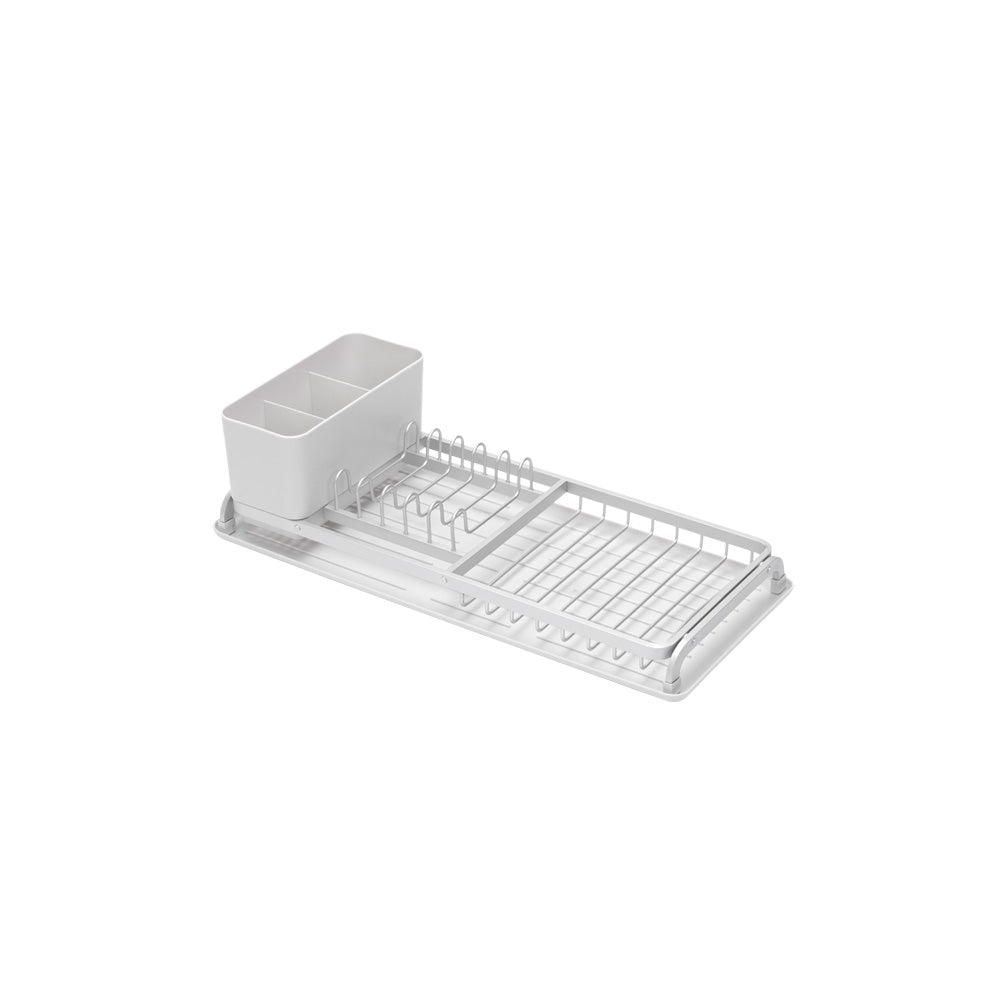 Compact Dish Drying Rack Light Grey - The Organised Store