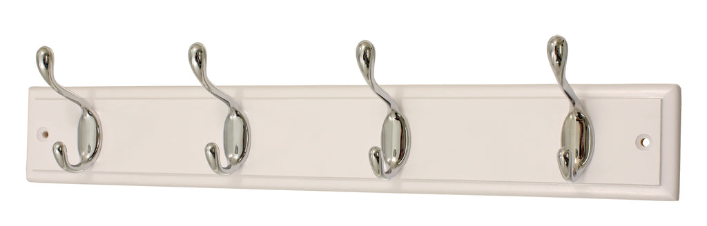 4 HD Chrome Hooks On White - The Organised Store