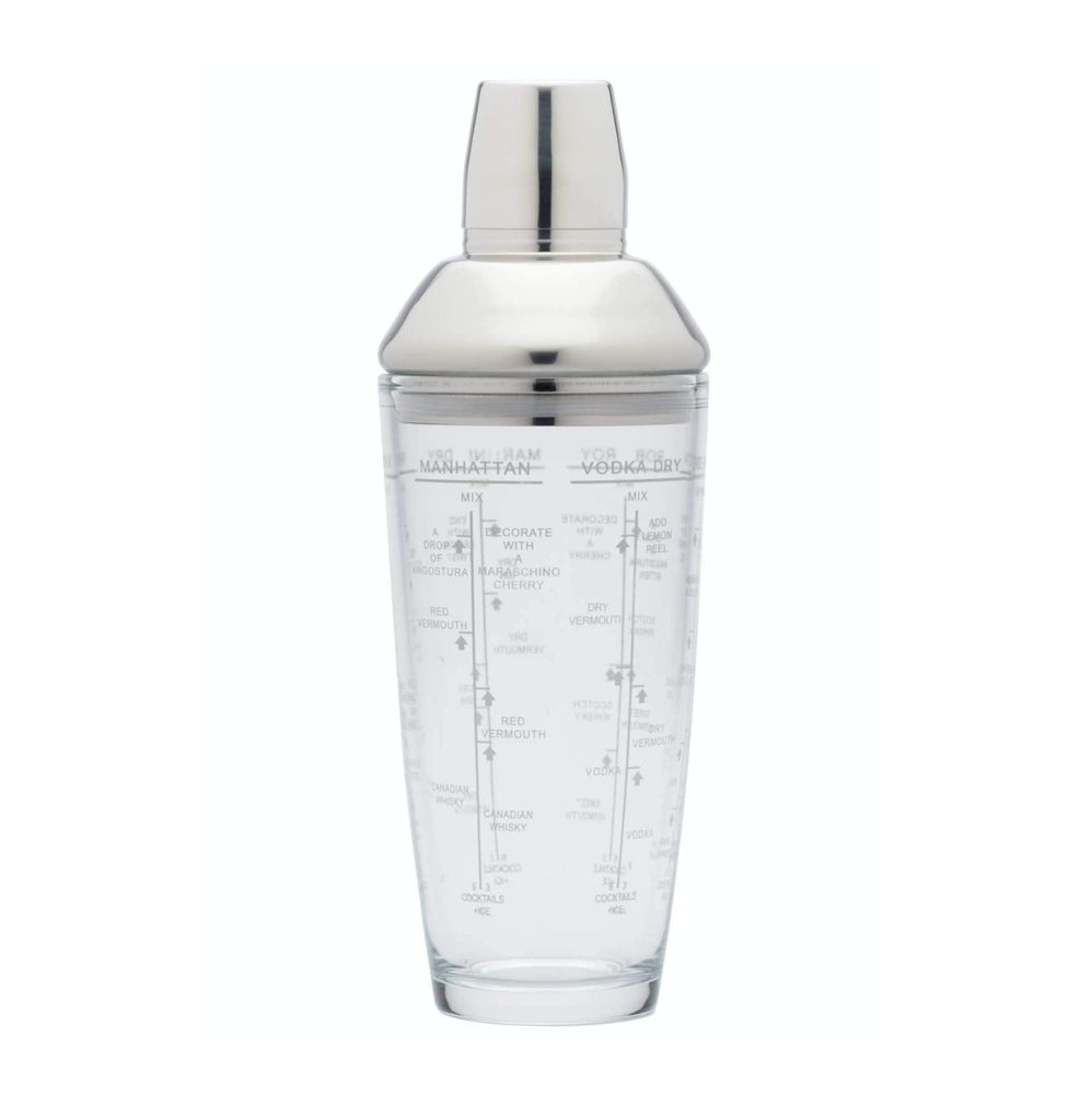 Glass Boston Cocktail Shaker 700ml