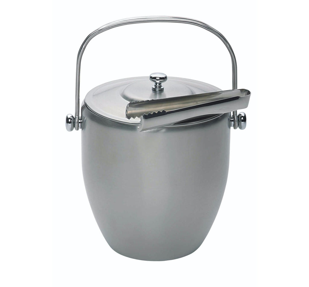 Stainless Steel Ice Bucket With Lid And Tongs The Organised Store