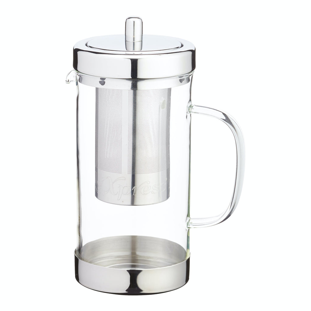 Le'Xpress Stainless Steel and Glass Infuser Teapot 1L/6 Cup
