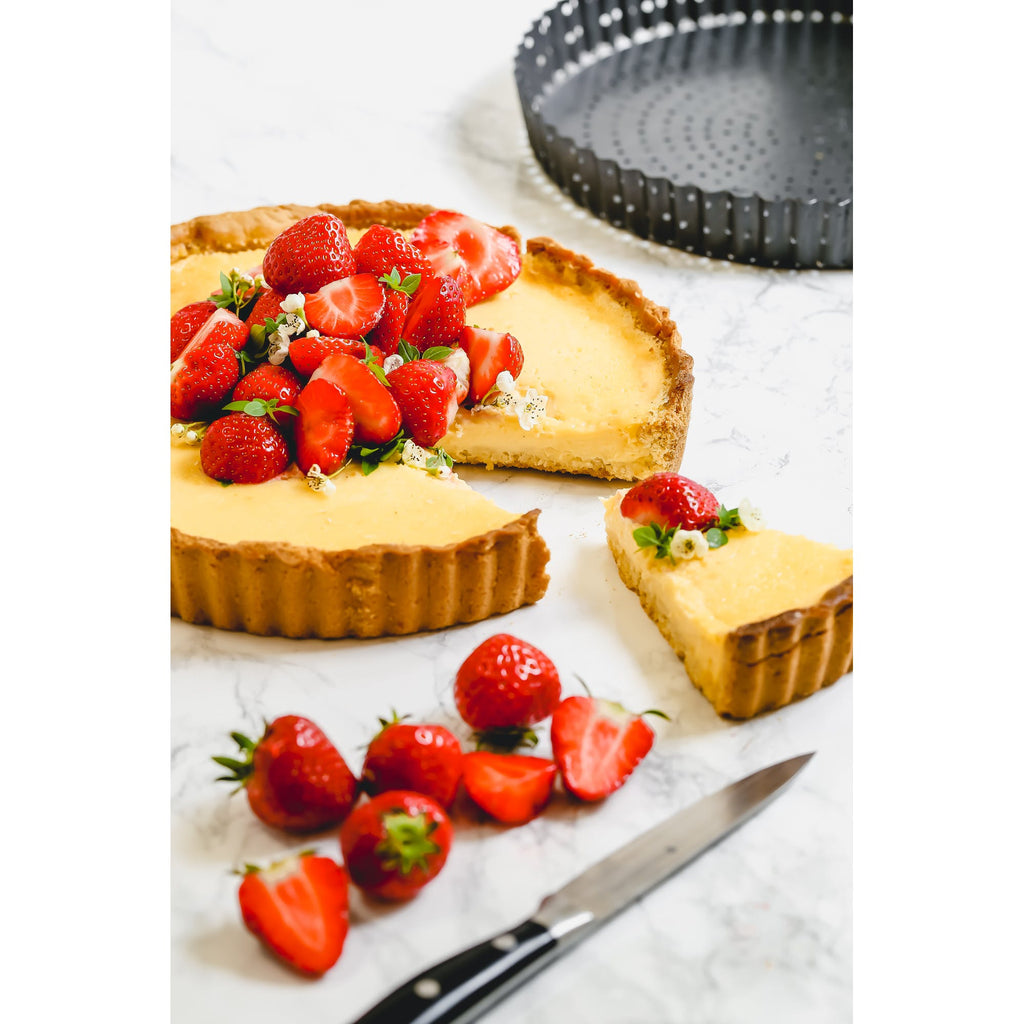 MasterClass Crusty Bake Non-Stick Fluted Round Flan / Quiche Tin