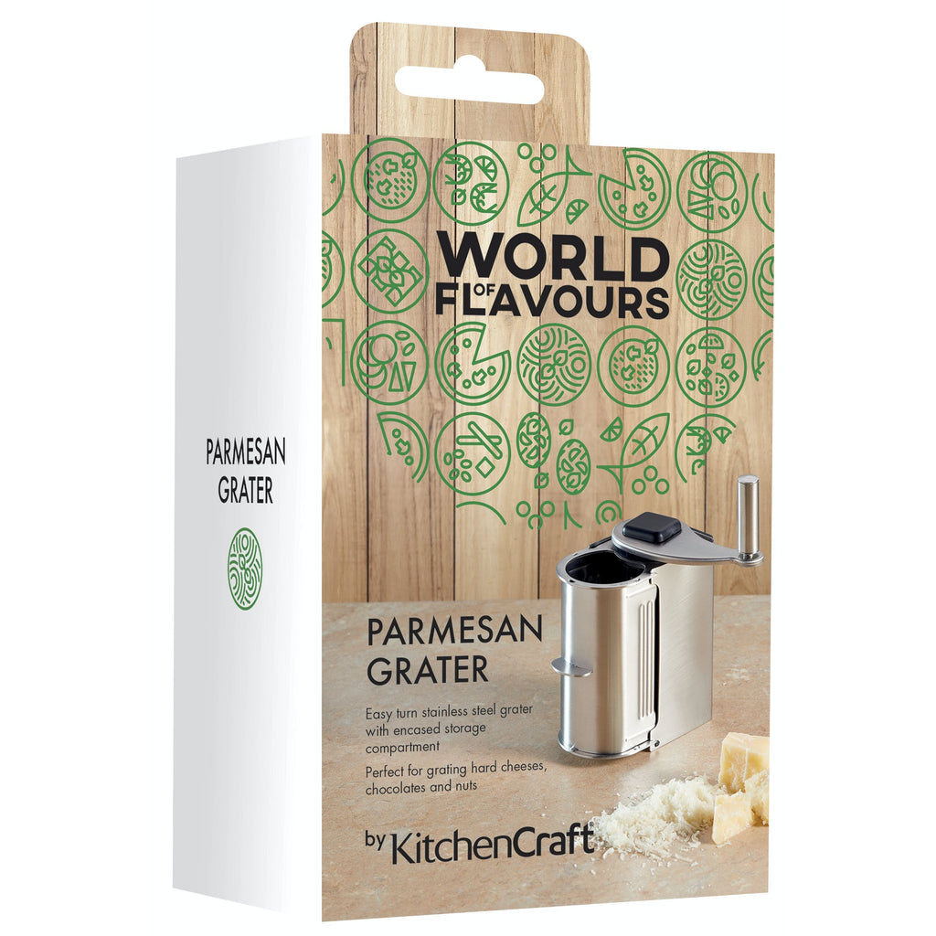 KitchenCraft World of Flavours Italian Stainless Steel Parmesan Grater