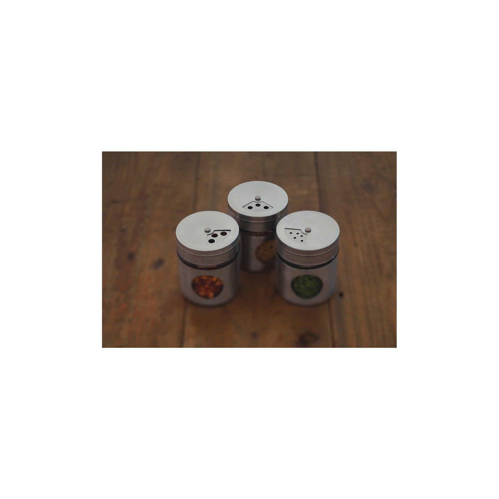 6 Stainless Steel Spice Jars