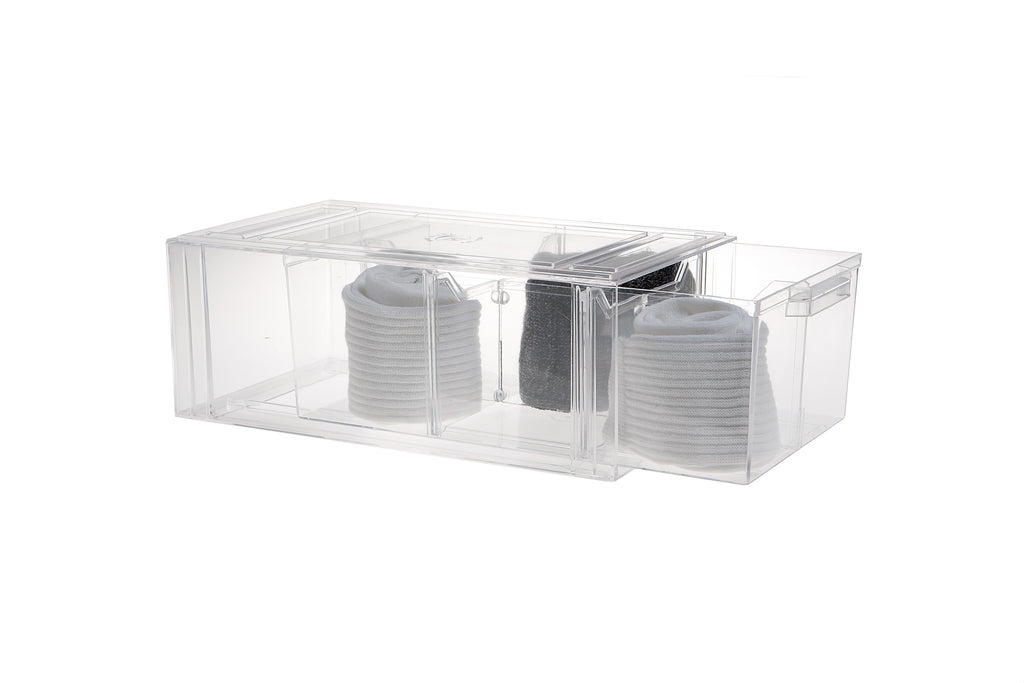 Clear Stackable Shoe Drawers-Various sizes