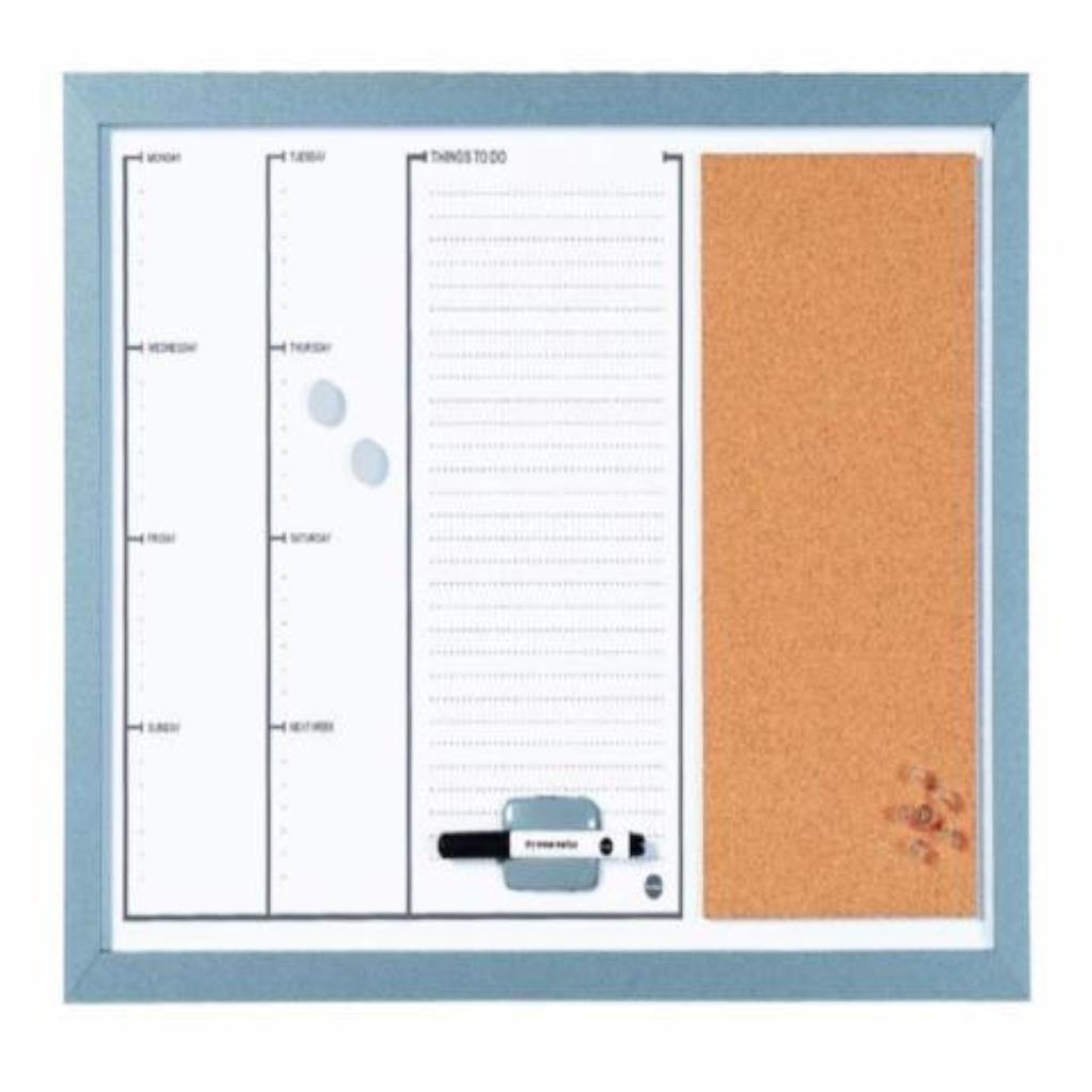 Magnetic Week Planner Board With Cork - The Organised Store