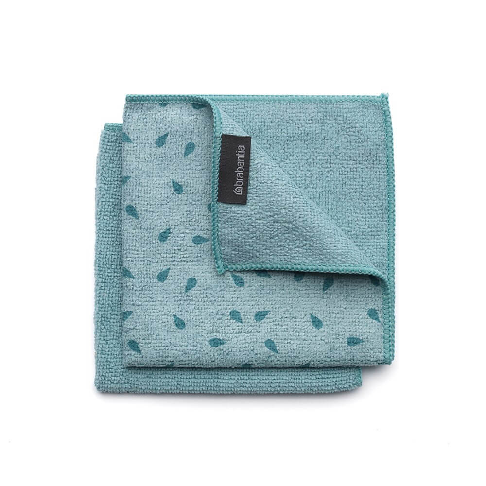 Microfibre Dish Cloths, 30 X 30 CM, Set of 2 - Mint - The Organised Store