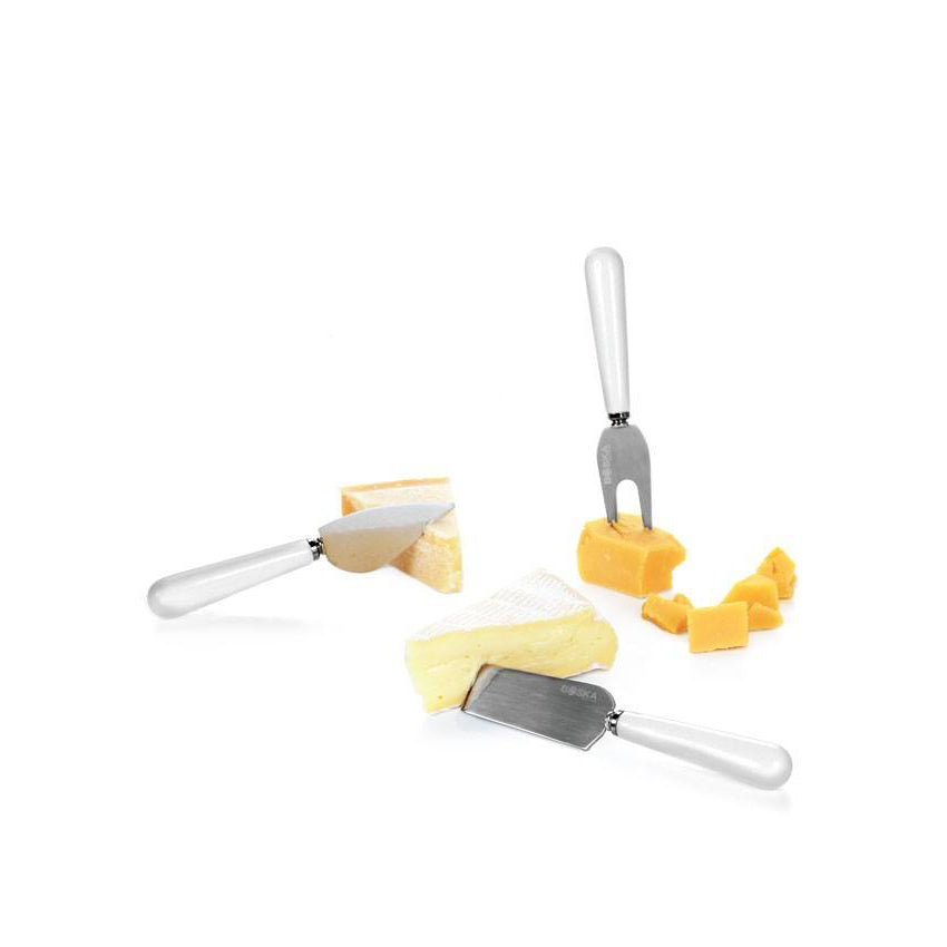 Porcelain Cheese Cutting Set